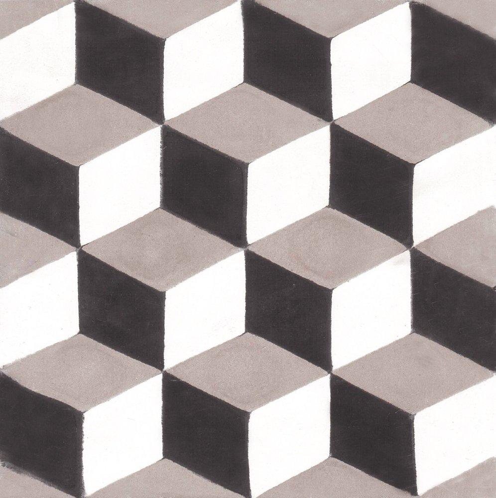 Ladrilho hidr ulico cubo 20x20 1 cemit rio dos azulejos - Ladrillo hidraulico ...